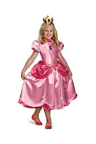 Generique - Disfraz Princesa Peach Deluxe niña 10-12 años (137-152 cm)