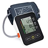 Blood Pressure Cuffs for Home Use - Portable Blood Pressure Monitors Upper Arm Automatic BP Machine with Extra Large Cuffs and Large LCD Display - BP Measure Machine with Blood Pressure Kit (Black)