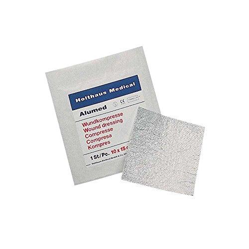 1x sterile Alumed® Kompresse Wundkompresse Vlieskompresse Aluminium Wundauflage, 10x10cm