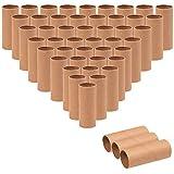 Genie Crafts Papp-Röhren für Kinder, Heimwerker und Schulprojekte, 48 Stück 48-Pack, 1.6 x 1.6 x 3.95 Inches braun