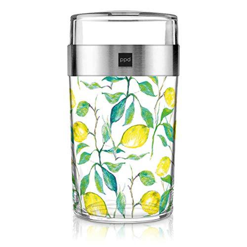PPD Paperproducts Design Snack 2Go Glass Motiv Beautiful Lemons | Salatbecher | Müslibecher aus Glas | Becher to Go | Zitronendruck