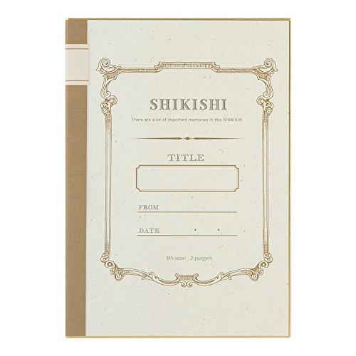 ミドリ 色紙 二つ折りカラー色紙  ノート柄 33171006