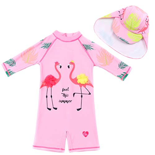Costume da Bagno per Bambina Protezione Solare Tuta da Bagno Bambine Muta da Nuoto Anti UV Costumi da Bagno Ragazze Un Pezzo Muta da Sub da Surf