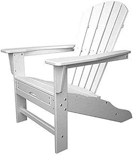 Polywood HNA15WH Palm Coast Adirondack Chair, White (Renewed)