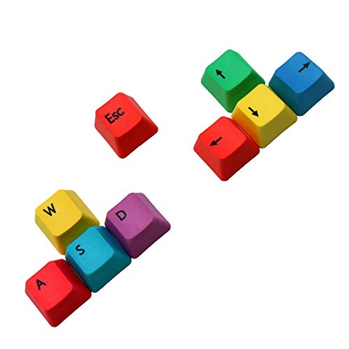 Vrttlkkfe 9 modificadores mecánicos del perfil PBT RGBY de las teclas del teclado WASD dominantes
