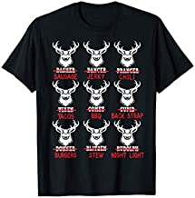 Funny Christmas Deer Bow Hunting Santa Men Women Hunter Gift T-Shirt