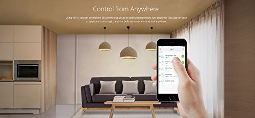 Kasa Smart Light Bulb by TP-Link - Reliable WiFi Connection, LED Soft White, Dimmable, A19, 50W Equivalent, No Hub Required, Works with Alexa Echo and Google Assistant (LB100)