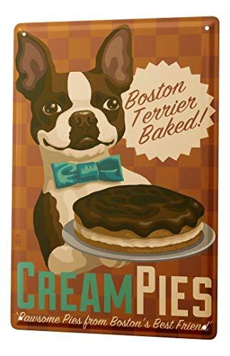LEotiE SINCE 2004 Plaque en Métal Métallique Poster Mural tin Sign Ravtive Pratique Vétérinaire Boston Terrier