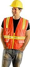 Occunomix LUX-XTRANS Non ANSI Solid Two-Tone Surveyor Safety Vest-Orange-Large