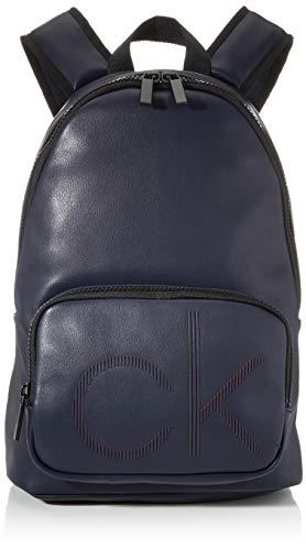 Calvin Klein Herren Ck Up Round Backpack Schultertasche, Blau (Navy), 1x1x1 cm