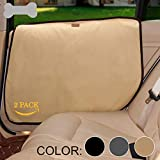 Tineer Pet Car Door Guard Protector Mat Anti-Scratch Vehicle Door Cover Pad Anti-Slip Car Accessories for Puppy Dog Traveling Outside (Beige)