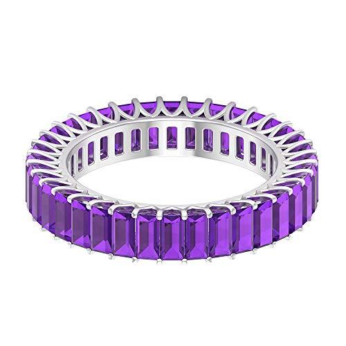 Rosec Jewels 18 quilates oro blanco baguette violeta Amethyst