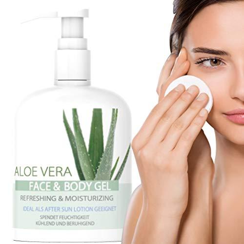 West Nutrition ALOE VERA AFTER SUN GEL – 100% pures Aloe Vera mit Glycerin und Panthenol für extra viel Feuchtigkeit – geeignet für Frauen und Männer Gesichtscreme, Face Mask & Bodylotion - 500ml