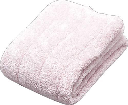 アイリスプラザ マイクロミンクファー 敷きパッド クイーン もこもこ ふわふわな肌触り エアコン対策 秋冬 ベッドパッド 四隅ゴムバンド 洗える 静電気防止 160×205cm 無地 ライトピンク MFSK16205