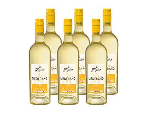 Mederaño Blanco lieblich Wein 0,75 l (6 x 0,75l) l Cuvée l lieblich l blumige Noten nach Orangenblüten l spritzig frischer Weißwein