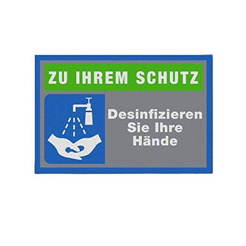 Logotex Schmutzfangmatte Hände desinfizieren Felpudo, Poliamida, 60 x 90 cm