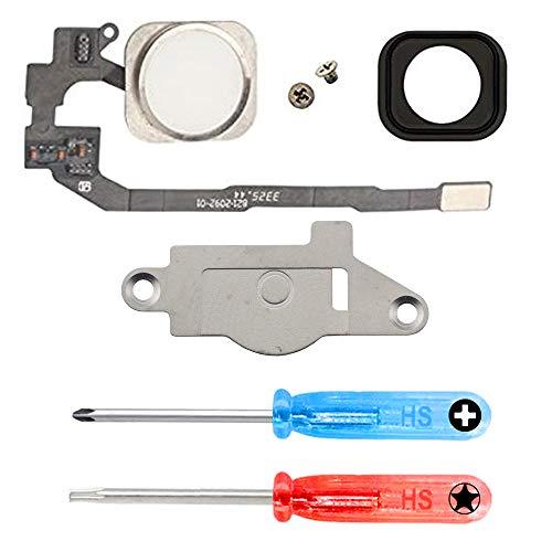 MMOBIEL Homebutton kompatibel mit iPhone 5S (Weiss) Home Button mit flexkabel Taste inkl. 2 x Schraubenzieher