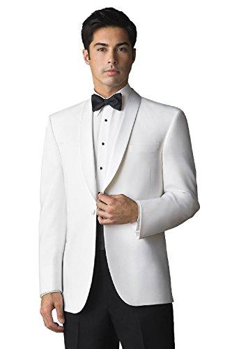 First Nighter Men's White Lapel Dinner Jacket, 44 Long