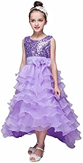 Ashtray - Toddler Girls Hang Sleeveless Dyed Evening Dress Bowknot Tiered Wedding Bridesmaid Tutu Princess Dress