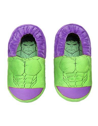 Hausschuhe 3D Kinder Avengers Hulk grün von 25 bis 33, Grün - grün - Größe: 33/34 EU