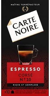Carte Noire Capsules de café espresso corsé, riche & complexe, n°10 - La boîte de 10, 53g