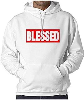 WearIndia Unisex Blessed Printed Cotton Hoodies Sweatshirt for Men and Women with Kangaroo Pocket