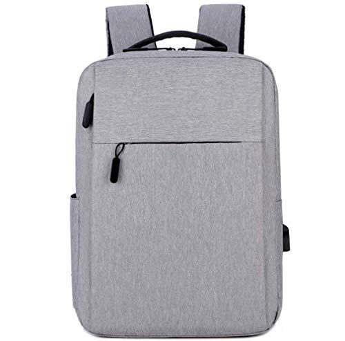 Computer-Rucksack Schultertasche Notebook-Tasche Business Casual Rucksack, Wasserdicht Atmungsverschleißfest, stoßfest, weicher Griff, Grau