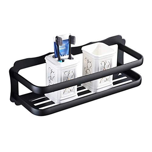 W-J zwarte douche kamer opslag accessoires gratis ponsen ruimte aluminium douche kamer opslag plank muur mount rack