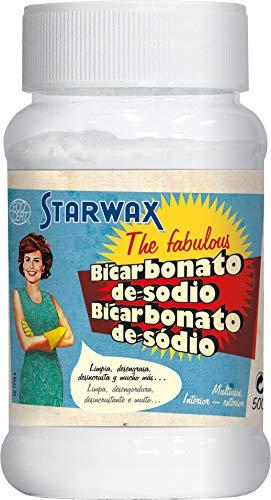 Starwax The Fabulous Bicarbonato de Sodio 500gramos - Limpiador Multiusos. Elimina la Grasa, el Mal Olor, y el Moho. Antioxidante