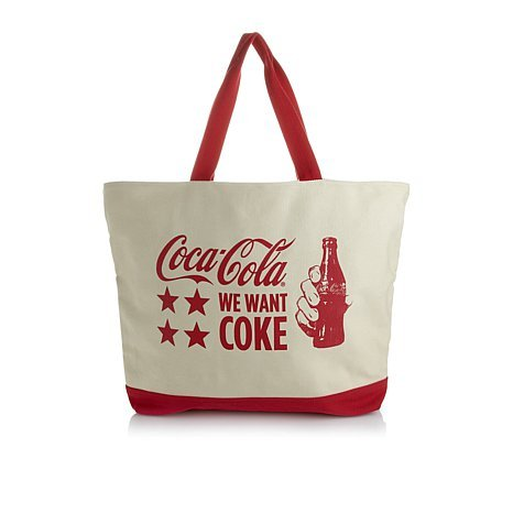 Coca-cola Oversized Tote Bag with Matching Wristlet ~We Want Coke