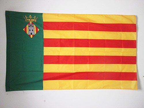 AZ FLAG Bandera de la Provincia DE CASTELLÓN 150x90cm para Palo - Bandera CASTELLÓN ENComunidad Valenciana 90 x 150 cm