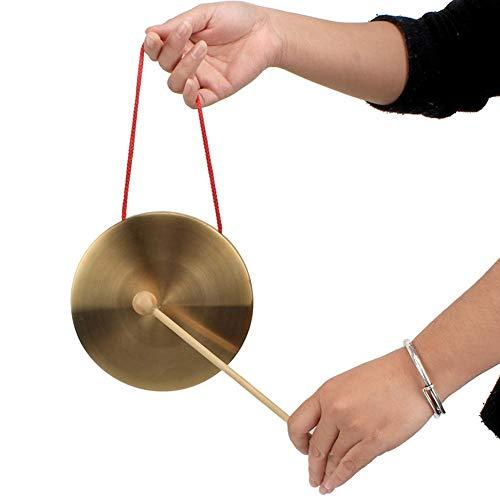 Seasons Shop Hand Messing Kupfer Gongs 10cm / 4 Zoll Mini Kleine Kupfer Becken Spielzeug Neujahr Geschenk Fabulous