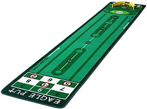 WXking Golf Puting Trainingsgeräte Indoor Faltbare Golf Green Trainer Büro Putter Praxisdecke Golf Praxis Geschenk Für Freunde Geschenk für Zuhause, Büro, Outdoor-Gebrauch