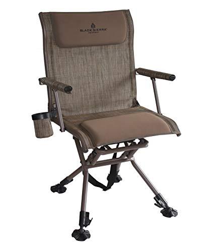 Black Sierra HCH-024-BR Nitro Pro XL Swivel Hunt Chair