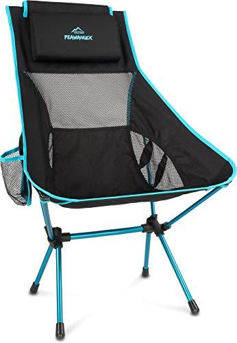 normani Outdoor Sports Ultraleicht Tragbar Klappbar Campingstuhl Klappstuhl Faltbar Outdoor-Stuhl mit Tragetasche Angelstuhl Strandstuhl aus Aluminium bis 150 kg belastbar Farbe Blue