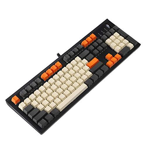 YMDK Carbon 61 87 104 Blanko-Tasten-Set, dick, PBT, OEM-Profil-Tastenkappen für mechanische MX-Tastatur (nur Tastenkappe)