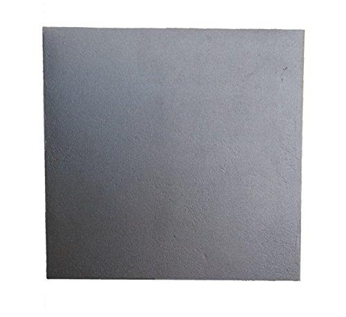 Lunaway Placa de chimenea en hierro fundido lisa | Dimensiones: 40x40 cm Grosor 0,8 cm
