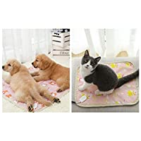 CXZA ペットホットブランケット暖房パッド、ペット犬/ペットの猫風邪&パッドヒーターパッドを温め、恒温猫の巣/犬小屋、小型防水電気毛布 (Color : RABBIT, Size : M)