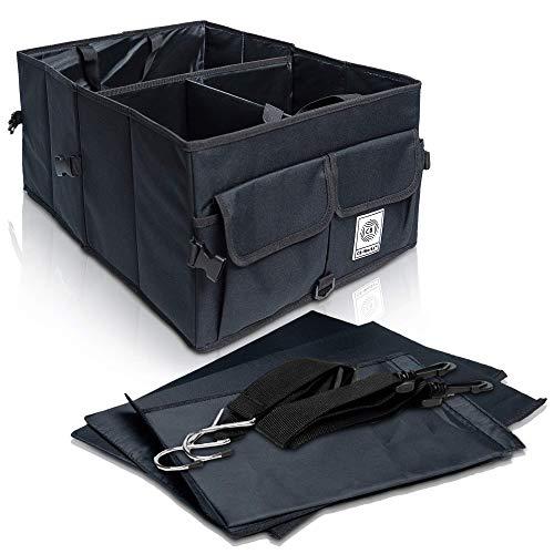 CB-WORKS Kofferraum Organizer Faltbare Auto Tasche, rutschfest mit Klett & extra Spanngurte, Zubehör Aufbewahrung, Stabil Langlebig Wasserdicht, 55 cm x 40 cm x 26 cm, 71 Liter