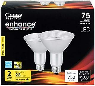 Feit PAR30LDM/930CA/2 LED Light Bulbs, Par30, Warm White, 750 Lumens, 10.5-Watts, 2-Pk. - Quantity 4