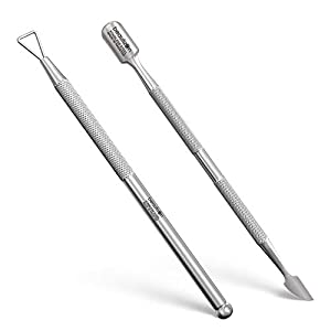 Beauty Shopping GLAMOVE Nail Cuticle Pusher Set – Stainless Steel Cuticle Remover Gel –