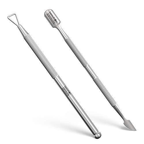 Beautizon Cuticle Pusher-Stainless Steel Gel Nail Polish Remover...