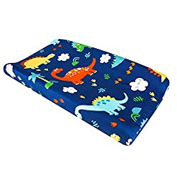 3. UOMNY Dinosaur Changing Pad Cover