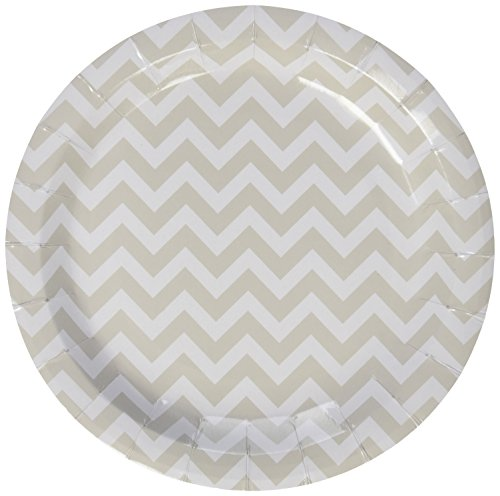 Ginger Ray Chevron Goddelijk Papier Party Platen Grijs