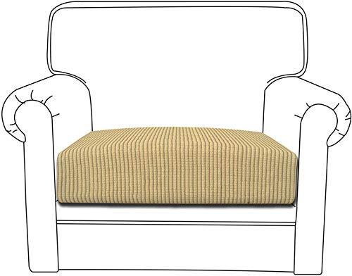 Yidaxing Copriseduta Divano Elasticizzato Jacquard Copricuscino Morbido Protezione del Cuscino Sedile del Divano Lavabile (1 Posto, Beige)