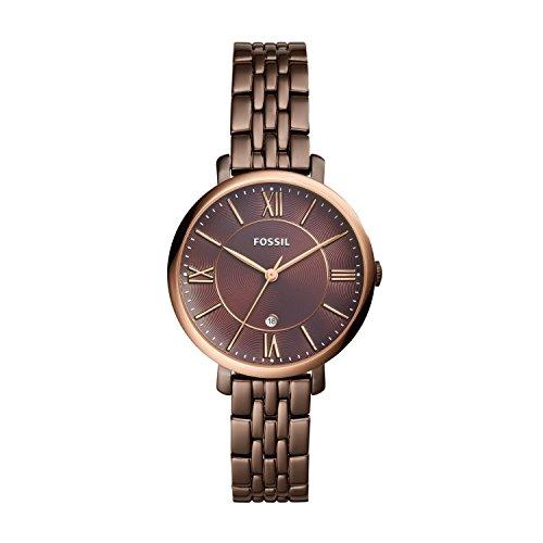 Fossil Damen Quarz Uhr mit Edelstahl Armband ES4275