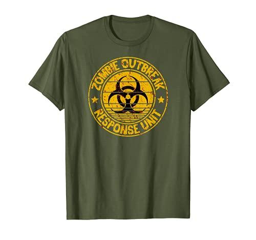 Zombie Outbreak Response Unit Attack Team Cool Camiseta Camiseta