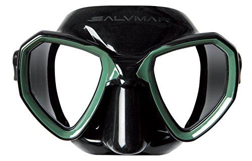 Salvimar Morpheus Masker, uniseks, volwassenen, zwart/groen
