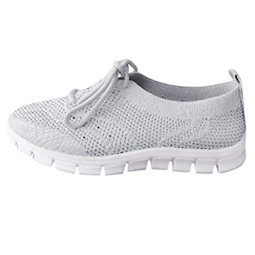 URIABKY Frauen Mesh Atmungsaktive Sportschuhe,Damen Casual Sneakers Laufschuhe Flat Athletic Turnschuhe Schnürer Erwachsene Outdoor Schuhe