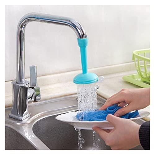 ppqq Pulverizador Giratorio, Grifo, burbujeador, aireador, difusor, Grifo, Boquilla, Cabezal de Ducha, Ahorro de Agua, Accesorios de Cocina (Color : Blue)